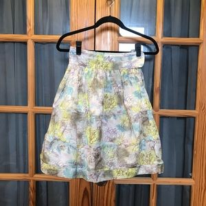 Elizabeth and James High Waist Floral Skirt